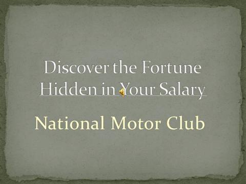 Nmc short opportunity call authorstream for Nmc national motor club