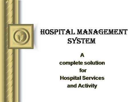 Hospital management system authorstream ccuart Gallery