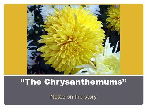 the chrysanthemums thesis Thesis because you have not yet developed the product for which you need funding, your belief in the outcome of the research is a claim rather than a fact.