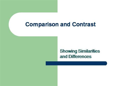 contrast and comparison essay ppt presentation