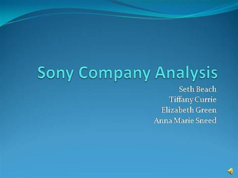 ppt of sony company To experience the sheer joy of innovation and the application of technology for the benefit and pleasure of the general public core purpose of sony (1950's) building vision what is core purpose core purpose is the organization's reason for being it reflects the people's idealistic motivations for doing the company's work.