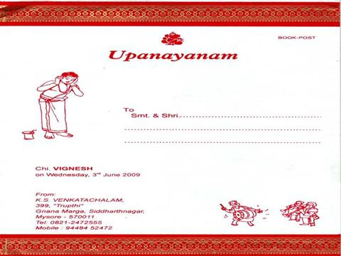 VigneshUpanayanam Invitation authorSTREAM