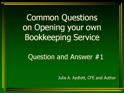 how to open your own in home bookkeeping service