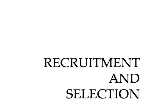 introduction to online recruitment and selection Also known as online recruitment, it is the use of technology or the web based   skill sets and qualification, but the screening and evaluation is not done online   implemented and the impact of introducing e-recruitment.
