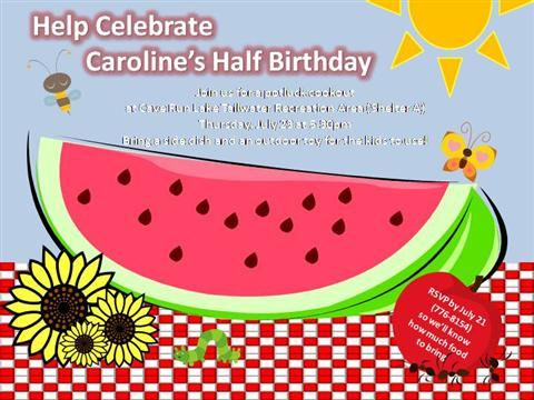 2Nd Half Birthday Invite |authorSTREAM