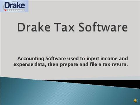 Drake tax software review authorstream for Drake program