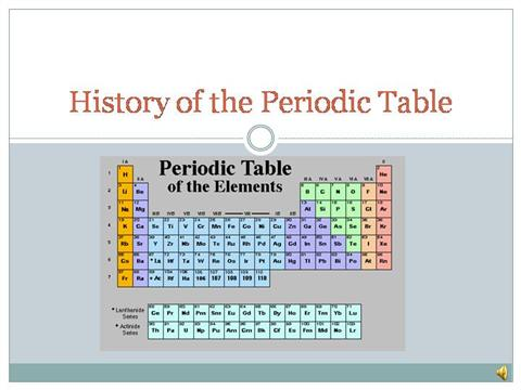 History of the periodic table authorstream urtaz