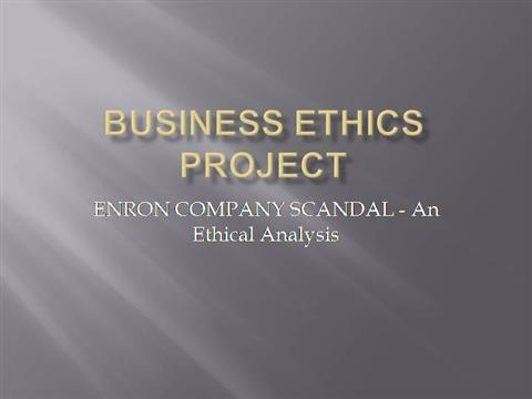 enron research paper Summary running head: enron ethical breach enron ethical breach enron ethical breach enron corporation was a houston-based american energy and services company established by kenneth lay in 1985.