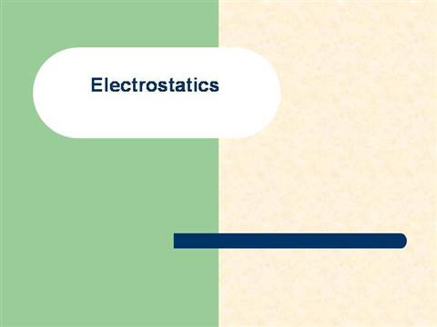 electrostatics notes for iit pdf