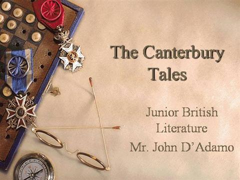 Canterbury tales authorstream pronofoot35fo Choice Image