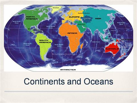 7 continents and oceans powerpoint