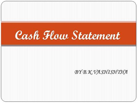 cash flow statement authorstream