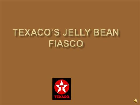 texaco jelly bean fiasco Senior executives, including texaco's former treasurer robert ulrich, freely deride black employees as ''niggers'' and ''black jelly beans'.