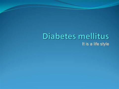 Management of diabetes mellitus.