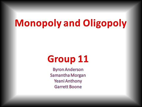 monopoly and olygopoly essay