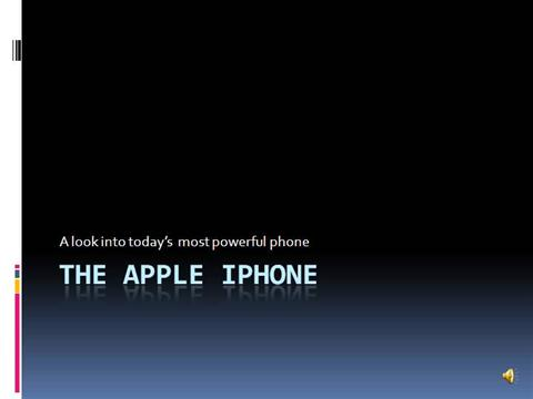 The Apple Iphone |authorSTREAM