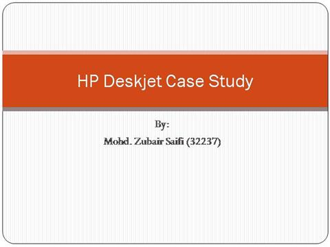 hp case study supply chain management