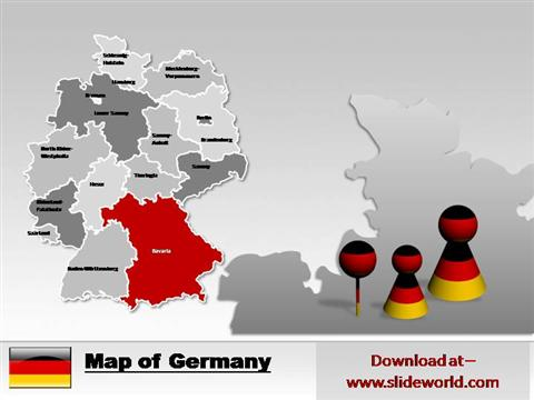 Germany map ppt templates authorstream toneelgroepblik Images