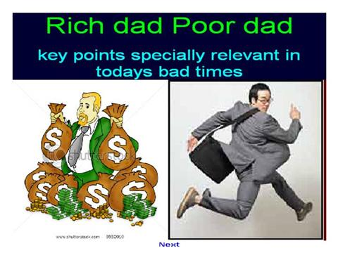 rich dad and poor dad essay Pdf summary of the book rich dad poor dad  rich dad's lesson: learn the  business where you do your job so that you can start your own.