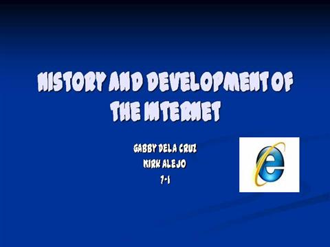 a history of the development of the internet Read chapter 7 development of the internet and the world wide web: the past 50 years have witnessed a revolution in computing and related communications t.