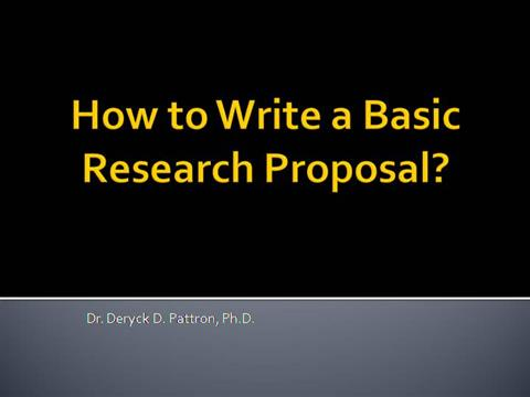Proposal writing ppt