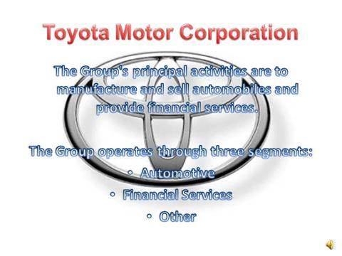 Toyota Motor Corporation Authorstream
