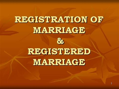 Registration of marriage authorstream altavistaventures Images