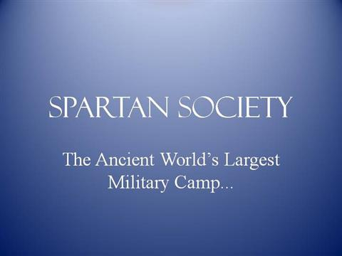 spartan society related Spartan society has been added to your cart specific subjects include the motif of snatching in spartan culture, suicide pages with related products.