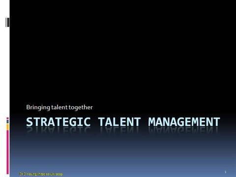 talent management strategy essay Talent management strategy essay sample developing a strategic plan for an organization despite its size requires the establishment of a standard.