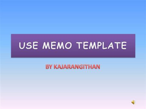 HOW To USE MEMO TEMPLATE In WORD 2007 AuthorSTREAM