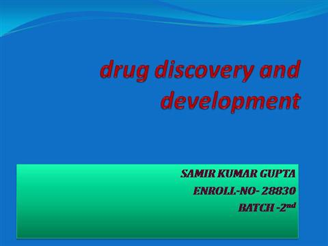drug discovery and development |authorstream, Powerpoint templates