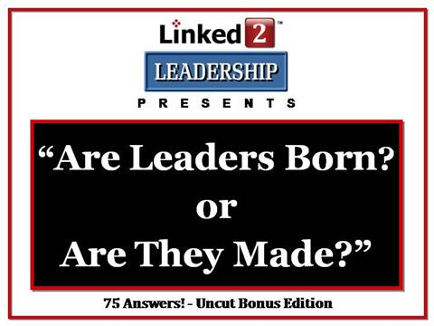 ppt on leaders are born not made Powerpoint courses  are leader born or made  while there might be a bit of leader deep inside everyone that does not make them a leader.