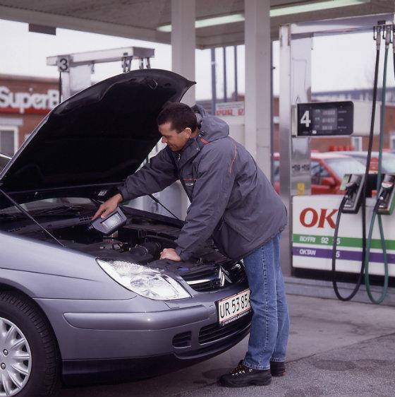Olieskift på bil