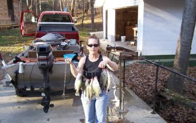 nice crappie caught by Naomi