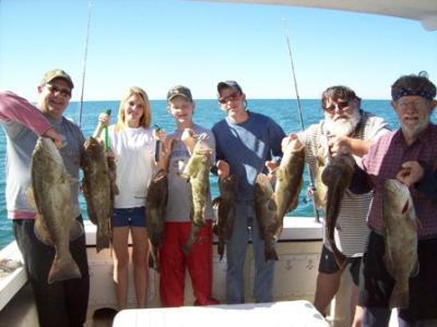 Evan family fishing with Capt Rick Rodriguez