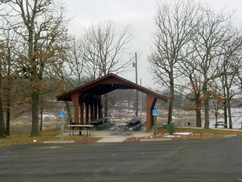 1 of many picnic shelters.