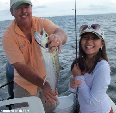 Photo - Danyelle Dias with Capt. John Sapp <br><br>Robinson Brothers Guide Service<br> Fly Fishing and Light Tackle<br>118 Commerce St.<br>Apalachicola, FL 32320<br>(850) 653-8896<br>www.floridaredfish.com <br>