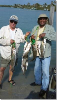 Rick and Dex showing off our 3 limits of trout!<br><br>BarHopp'R Kayak Guide Service <br>capt@barhoppr.com <br>239-633-5851 <br>www.barhoppr.com