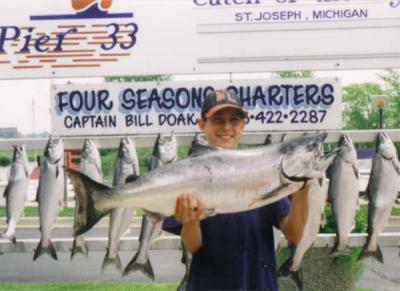 Four Seasons Sport Fishing<br>Capt Bill Doak<br>7780 Stvl-Brda Rd<br>Baroda, MI 49101<br>tel: (800) 972-8993<br>269-422-2287<br>email: info@fourseasonscharters.com