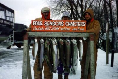 Four Seasons Sport Fishing<br>Capt Bill Doak<br>7780 Stvl-Brda Rd<br>Baroda, MI 49101<br>tel: (800) 972-8993<br>269-422-2287<br>email: info@fourseasonscharters.com <br>