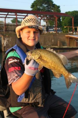Average size smallmouth caught in the harbor