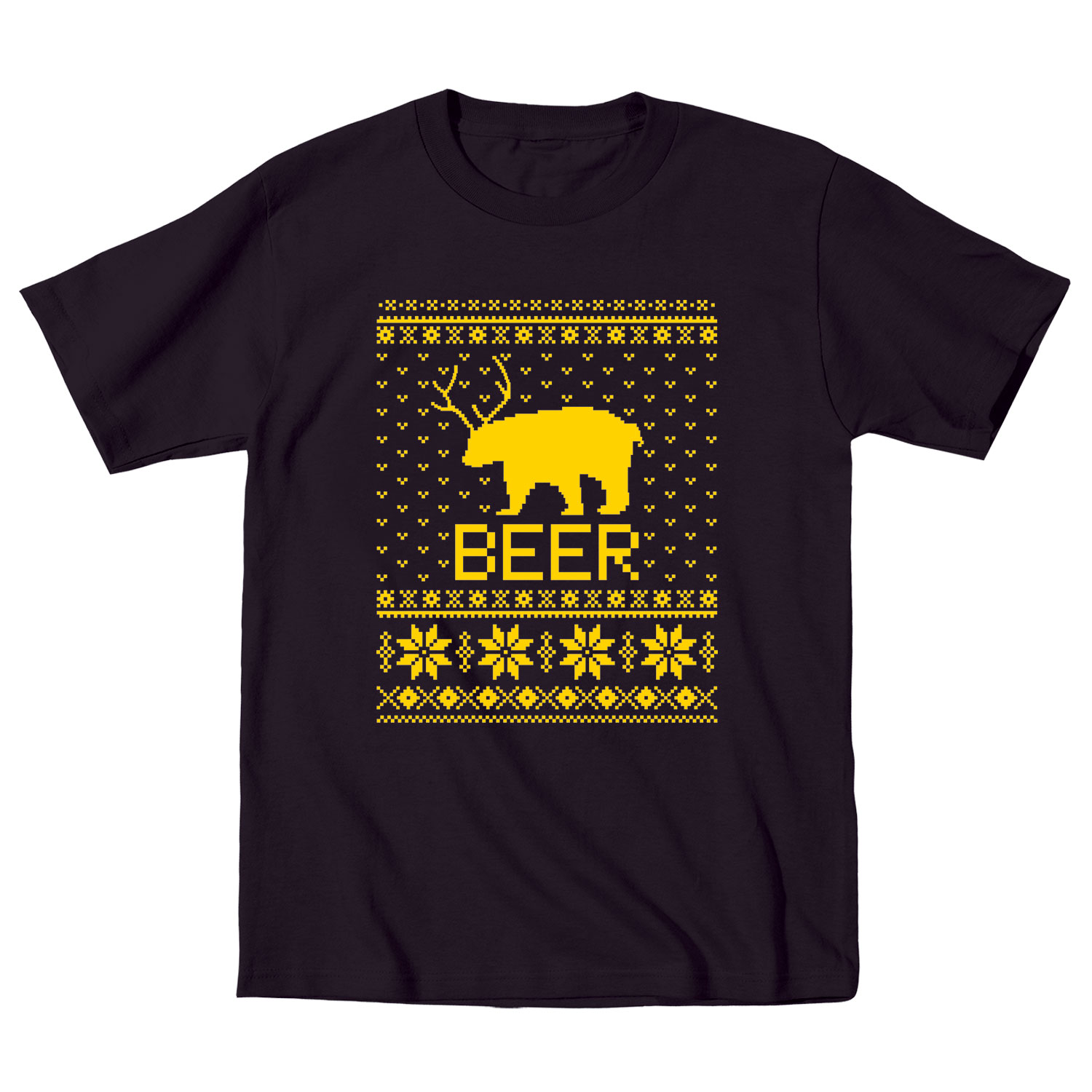 Details about ugly sweater party beer bear funny drinking christmas