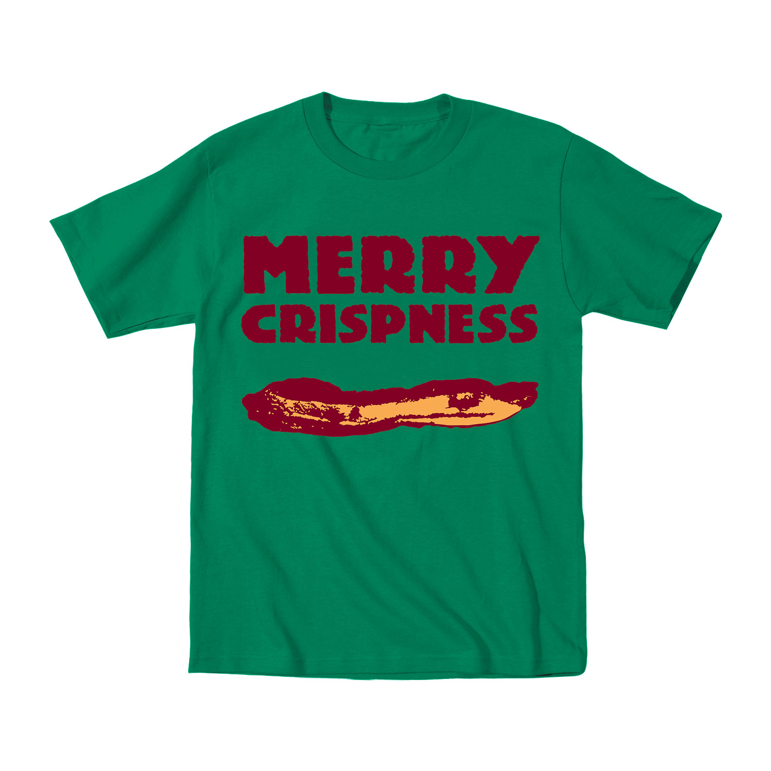 Merry Crispness Bacon Gift Food Party Holiday Funny ...