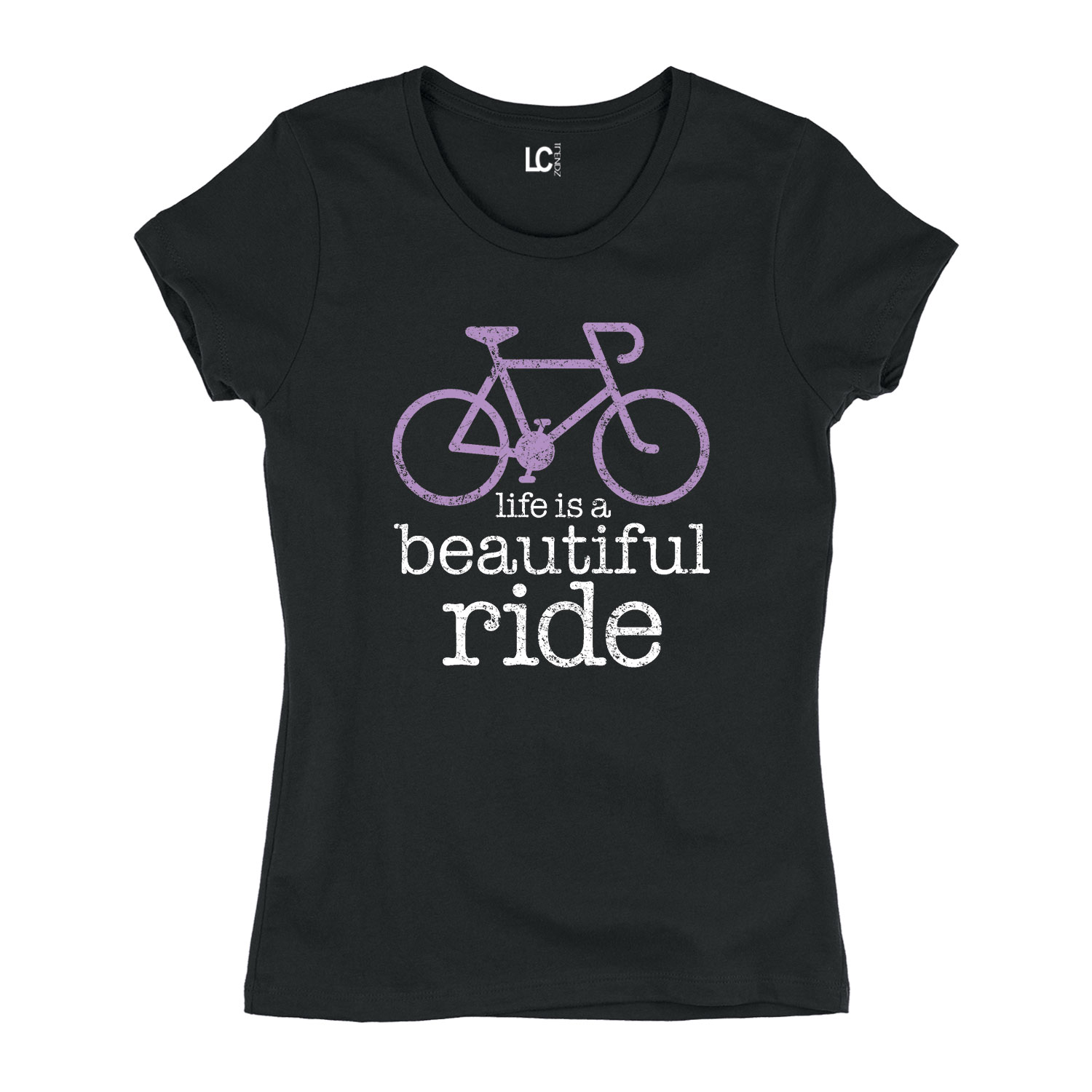 Life Is A Beautiful Ride Bicycle Bike Athletic Fixie Fixed