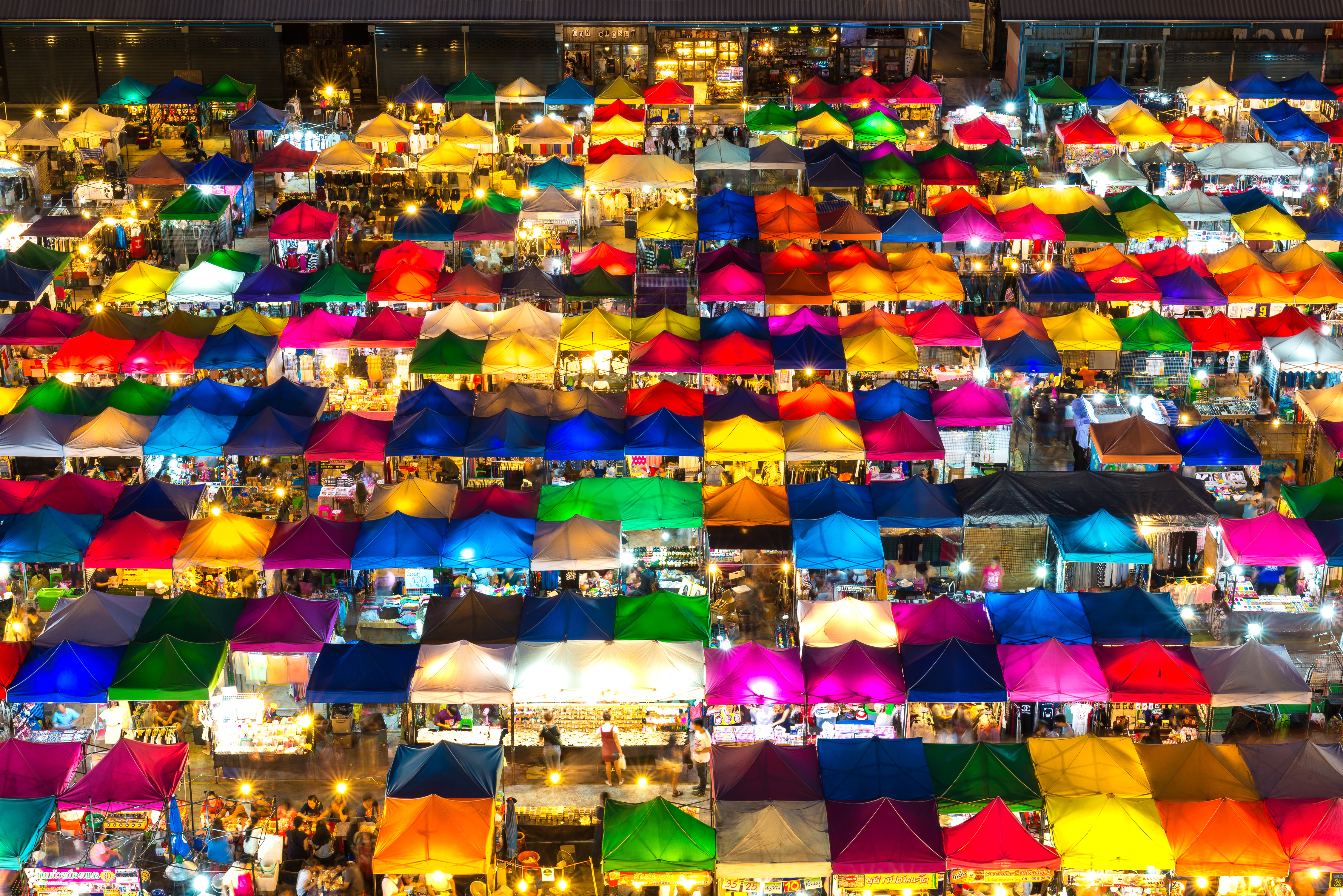 Colourful Market Tents Thailand
