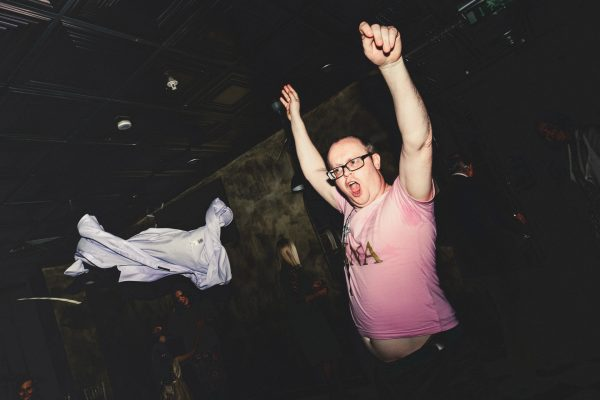 MANCHESTER WEDDING PHOTOGRAPHY, MANCHESTER WEDDING PHOTOGRAPHER, AYESHA PHOTOGRAPHY, BEST OF WEDDING PHOTOGRAPHY, WEDDING GUEST THROWING SHIRT ON DANCEFLOOR