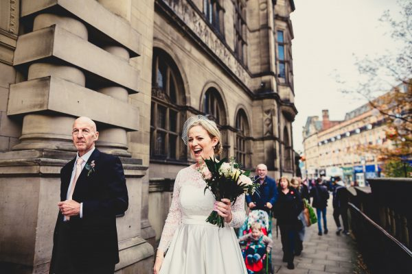 sheffield town hall wedding photographer, sheffield town hall wedding photography, sheffield town hall wedding, sheffield wedding photographer, sheffield wedding photography, ayesha photography, manchester wedding photographer, manchester wedding photography, bride enters sheffield town hall laughing