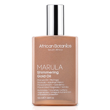Marula Shimmering Gold Oil | African Botanics | b-glowing