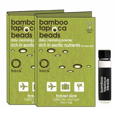 Bamboo Tapioca Beads - Travel Size | kaia naturals | b-glowing
