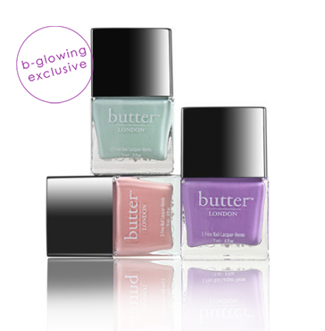 bCLASSIC Nail Polish Trio | butter LONDON | b-glowing